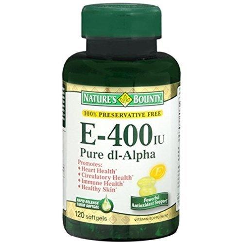 Nature's Bounty Vitamin E 400 IU Softgels Pure DL-Alpha 120 Soft Gels (Pack of 11)