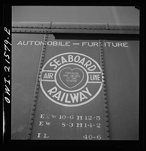 (Vintography Reproduced Photo of San Bernardino, California. A Sign on a Freight car of The Seaboard Airline Railway 1943 Delano C Jack 76a)