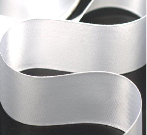 Maple Ribbon - Double Face Satin Ribbon WHITE 1 1/2 inch x 5 yards