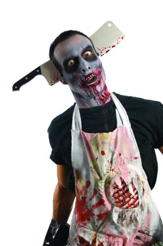 Best Two Year Old Halloween Costumes (Rubie's Costume Zombie Shop Cleaver Through Head, Silver/Red/Black, One Size)