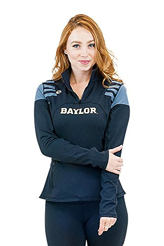 1/4 Warm Up Zip Jacket - Twin Vision Activewear Baylor Bears 1/4 Zip Yoga Warmup Track Jacket Black (Medium)