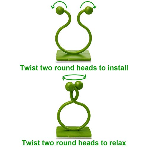 Motiloo 50 Pcs Plant Climbing Wall Fixture Clips Vine Plant Climbing Self-Adhesive Sticky Wall Hook Plant 1 inch Diameter Plant Holder for Home Decoration