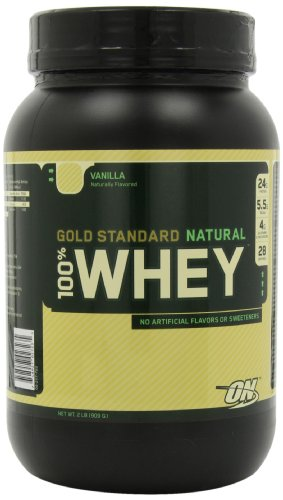 Optimum Nutrition 100% Whey Gold Standard Natural Whey, vanille, 2 Pound