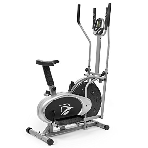 Find Discount Plasma Fit Elliptical Machine Trainer 2 in 1 Exercise Bike Total Cardio Fitness Home G...