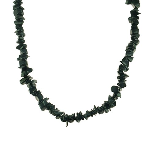 - Black Onyx Gemstone Chips Necklace