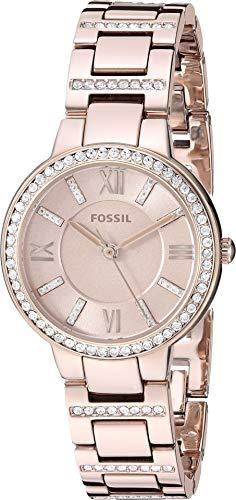 (Fossil Virginia Three Hand Pastel Pink Stainless Steel Watch (Pastel Pink(Pastel)