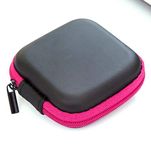 phone Data USB Cable Travel Case Organizer Pouch Storage Bag Fashion (StyleID - Rose red-S) ()