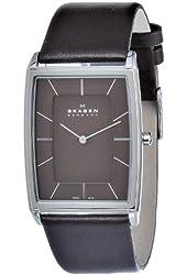 Skagen Men's 857LSLD Stainless Steel Brown Dial Watch