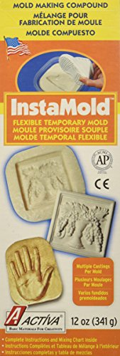 Activa Instamold Temporary Mold Making Compound, 12-Ounce, White