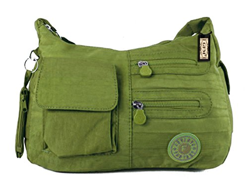 Bag Durable Nylon Strong Pocket Style Fabric Cross Medium Womens 2 Multi Body Size GFM Olive JTNAK qnSxwPE0gx
