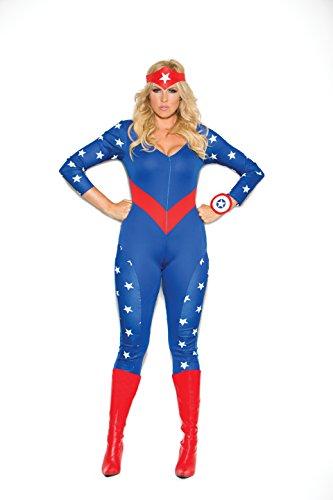 Naughty Superhero Costumes (Zabeanco Woman's Patriotic American Super Hero Role Playing Costume)