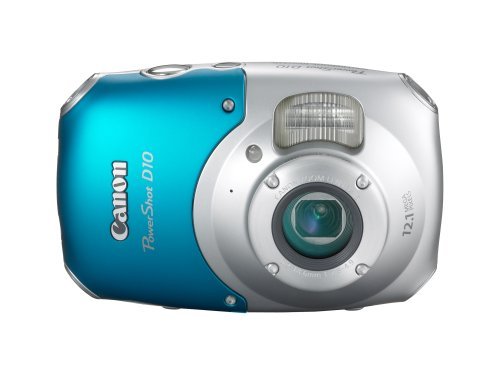 Canon PowerShot D10 12.1 MP Waterproof Digital Camera with 3x Optical Image Stabilized Zoom and 2.5-Inch LCD (OLD MODEL) by Canon