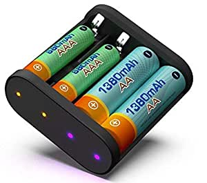 Amazon.com: ISDT A4 Smart Battery Charger AA & AAA 10500
