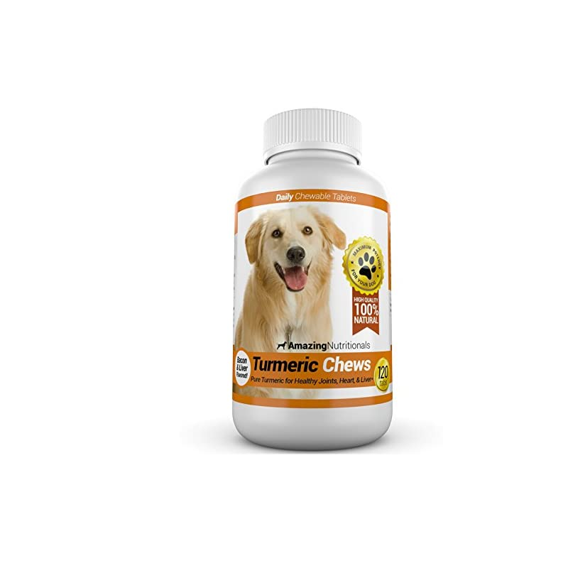dog supplies online amazing turmeric for dogs curcumin pet antioxidant, eliminates joint pain inflammation, 120 chews