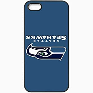Personalized iPhone 5 5S Cell phone Case/Cover Skin Nfl Seattle Seahawks 6 Sport Black by supermalls