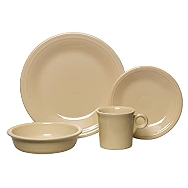 Fiesta 4-Piece Place Setting, Ivory