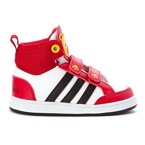 Adidas Boys' Hoops V Mid Infant/Toddler White/Black/Red 5T Toddler