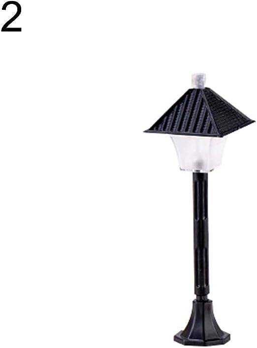 pittospwer - Lámpara de jardín en Miniatura de Resina con diseño de Paisaje: Amazon.es: Jardín