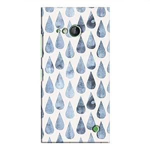 Cover It Up - Raindrops Print Denim Lumia 730 Hard Case