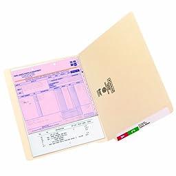 Smead 24110 Shelf-Master Straight-Cut Reinforced End Tab File Folder, Letter Size, Manila, Pack of 100