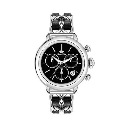 Glam Rock Women's Bal Harbour 40mm Multicolor Steel Bracelet & Case Swiss Quartz Black Dial Watch GR77126N