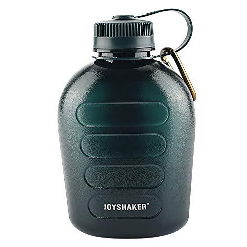 JOYSHAKER Water Bottle 1Quart 34oz Canteen Military Kettle Large Water Bottle with Carabiner BPA Free Tritan Sports Water Bottle Gym Drinking Water Bottle Big Outdoor Fitness Jug Travel for Man