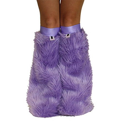 [Lilac Lavender Soft Rave Furry Legwarmers Fluffies] (Furry Rave Boots)