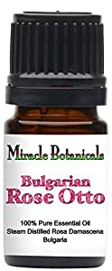 Miracle Botanicals Bulgarian Rose Otto Essential Oil - 100% Pure Rosa Damascena - 2.5ml, 5ml, and 10ml Sizes - Therapeutic Grade - 5ml