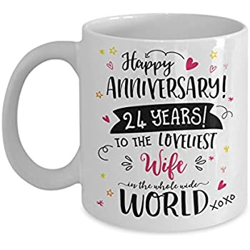 Amazon Com 24th Wedding Anniversary Gifts For Her