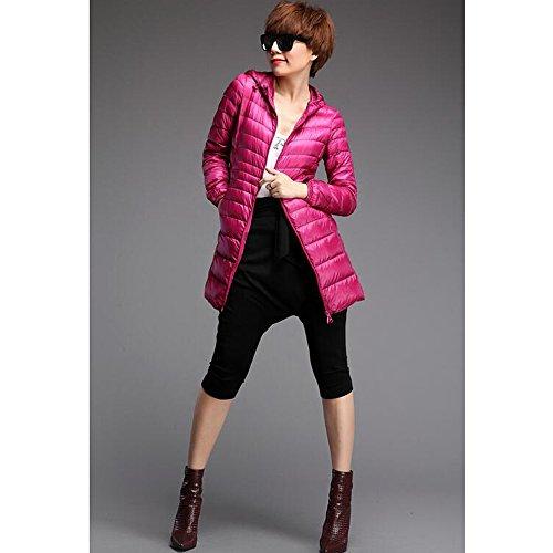 Rosa Cappotto Xfentech Colori Lungo Delle Leggero Rossa Donne Inverno Piumino 10 Disponibili Outerwear qzCpPTwxA
