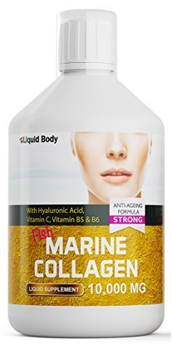 Liquid Body Premium Marina Colágeno (500ml) Alto dosis 10.000 mg Anti-edad Fórmula