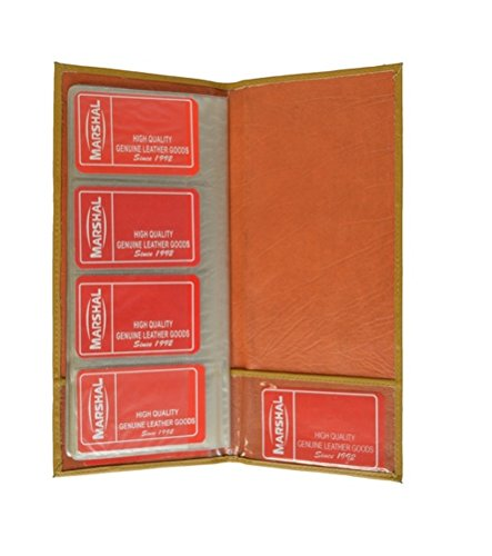 Genuine Leather Business 160 Card Holder Organizer Case Wall