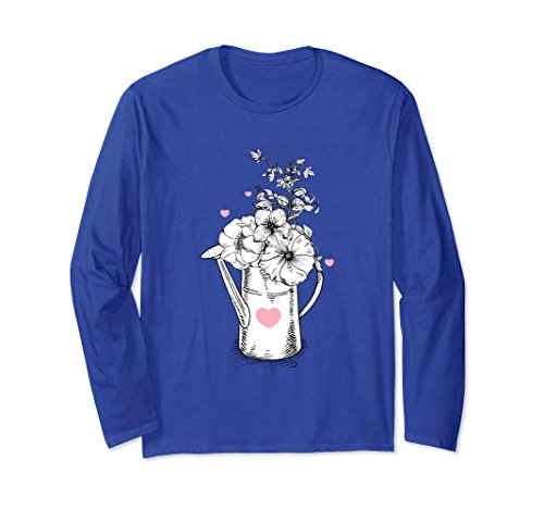 Unisex Flowers Are Great But Why Not Get Flowers And A Shirt Small Royal Blue