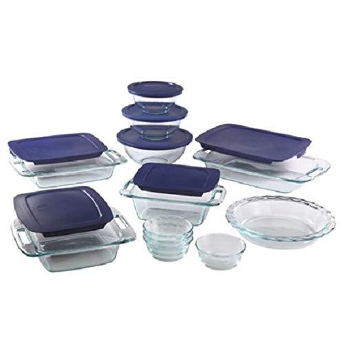 Non-Porous Glass Easy Grab Bakeware 19-Piece Set