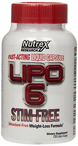 Nutrex Research Lipo 6 Stim Free, 120 Count