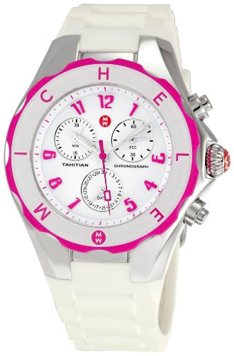 itian Jelly Bean Large' Quartz Stainless Steel and Rubber Sport Watch, Color:White (Model: MWW12F000024) ()
