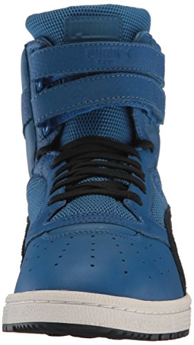 PUMA Lthr Lapis Color Sky Men's Blocked Black Blue Hi II Sneaker puma gwngRqr1
