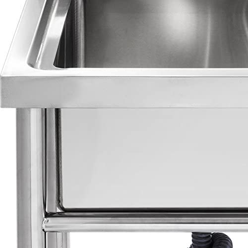 Entrep/ôts 1000X600X940mm Garages Salles de Bains Olibelle Evier En Acier Inoxydable Evier Simple Cuve Professionnel Evier Sur Pied Pour Cuisines de Restaurants et de Maison