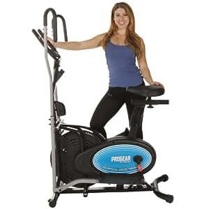 ProGear 400LS 2 en 1 Elíptica y bicicleta de ejercicios con sensor de pulso
