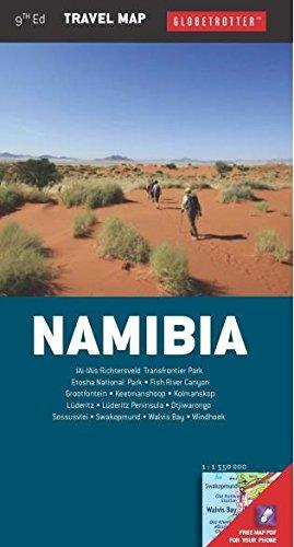 Namibia Travel Map (Globetrotter Travel Map) - Globetrotter Travel Map