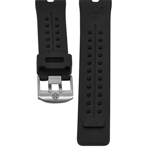 HAZARD 4 WB-NAT24-SS-BLK Nautical TPR Watch Band. Stainless Buckle Black