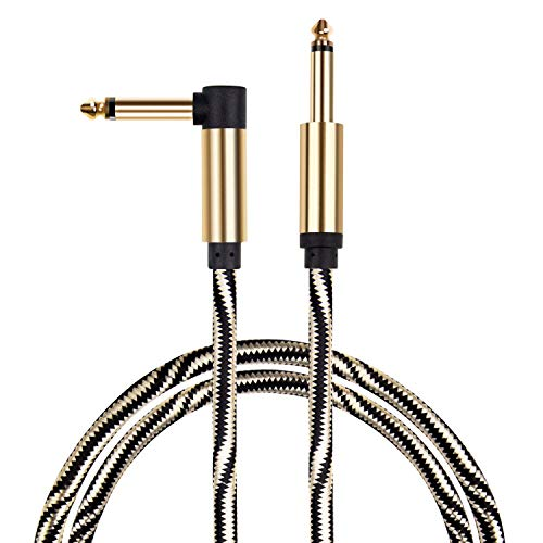 Guitar Cable, Mugig Professional Cable for Guitar/Bass/Keyboard - 10ft/3m Instrument Cable 1/4