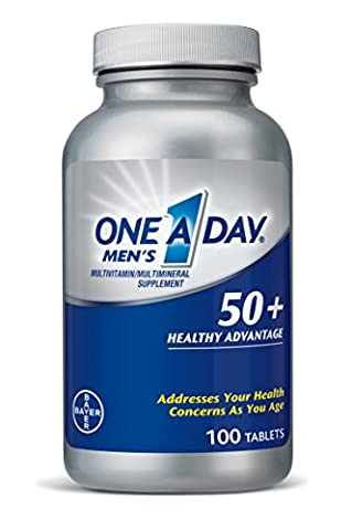 One A Day Men's 50+ Advantage Multivitamins, 100 Count (One A Day Bayer)