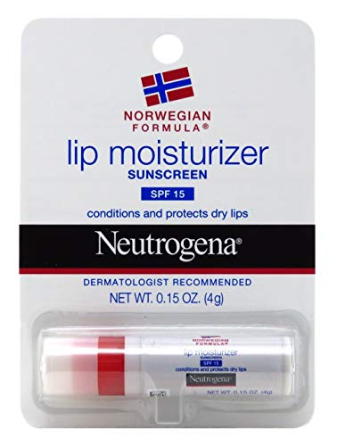 Neutrogena Norwegian Formula Lip Moisturizer With Sunscreen, Spf 15,.15 Oz. (Pack of 3)