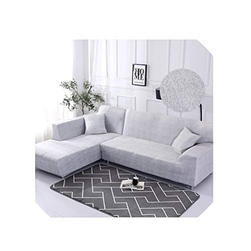 - 1 Piece/ 2 Pieces Geometric Pattern Sofa Cover for L Shaped Sectional Sofa Couch Cover Sofa Towel Sofa,Color 11,1Seater and 1Seater