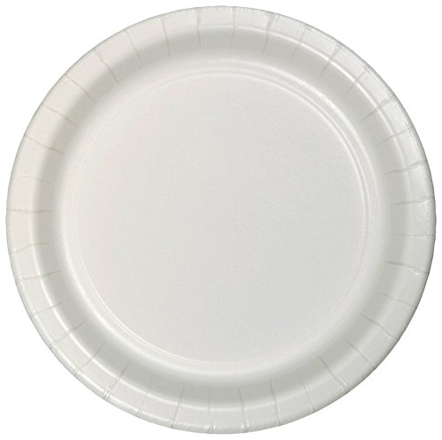 75-Count Value Pack Paper Dinner Plates, White -