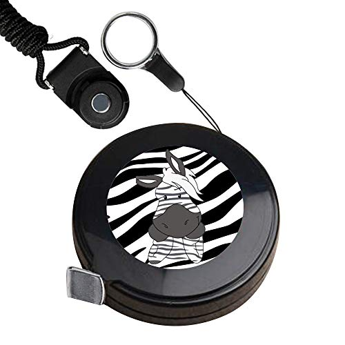 1.5 Meter Black tape measure Zebra Tape Measure for Body customized image tape measure sewing Automatic retractable tape measure clothing measuring Tape Measure fractions Self Lock tape (Zebra Tape Measure)