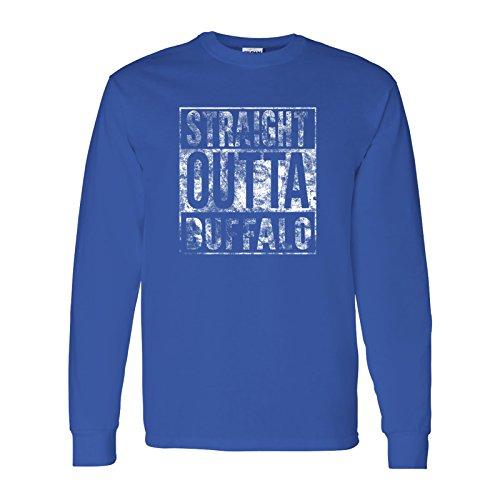 Straight Outta Buffalo - Hometown Pride, Football, New York Long Sleeve T-Shirt - X-Large - (Pride Long Sleeve Tee)