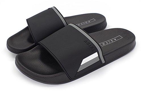 Moodeng Men and Women Slide Sandals Non-Slip Outdoor Bathroom Beach Shower Slippers