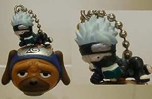 Naruto Keychain Figure with Bell Kakashi Pakkun